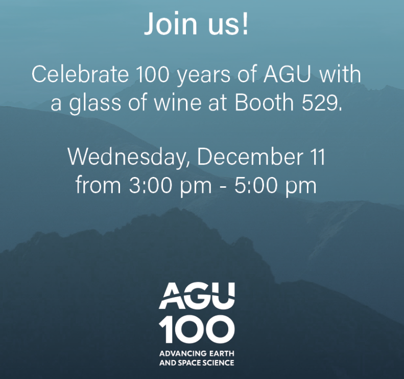 AGU Wine Event December 11 at 3:00 PM