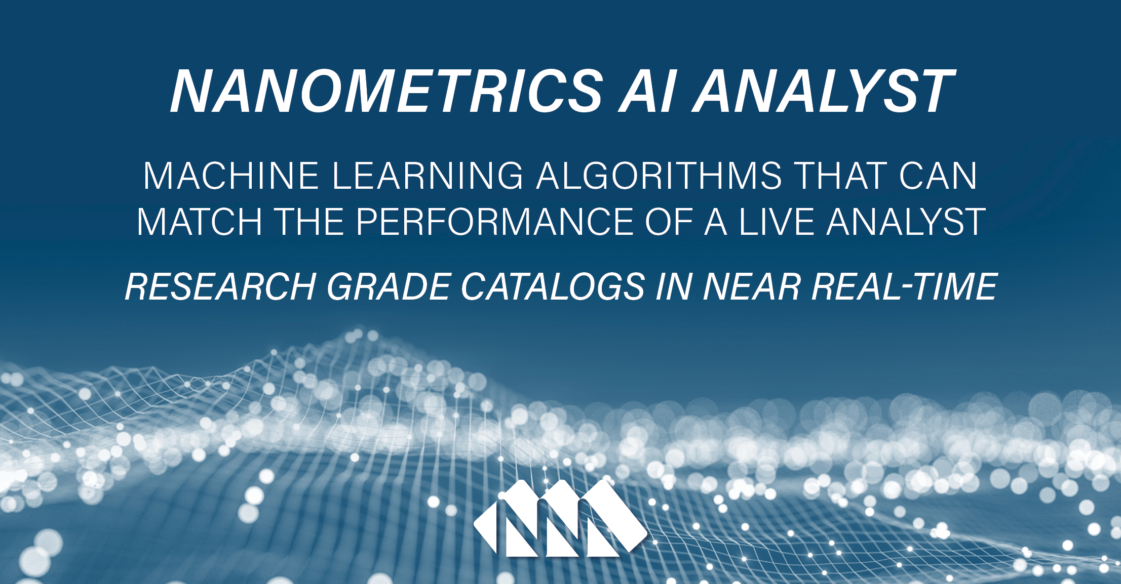 AI Data Processing that can Match Analyst Performance
