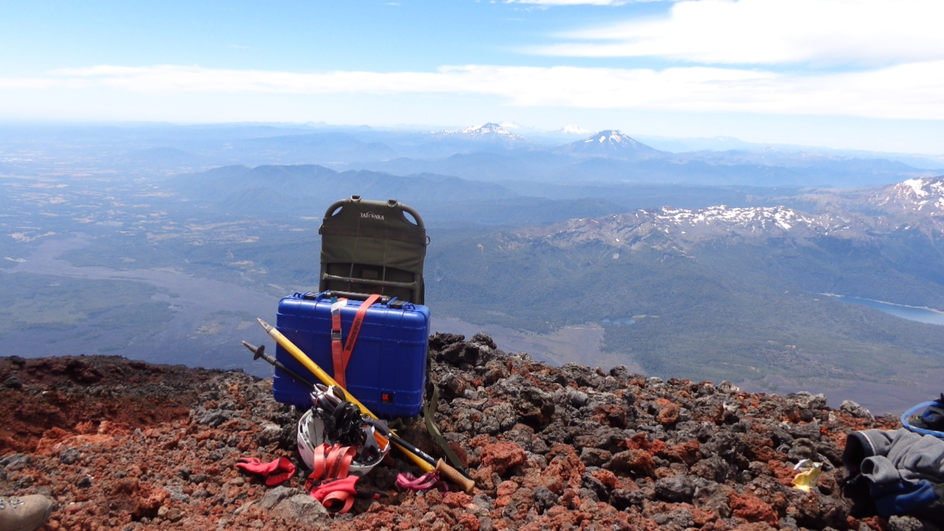 Transportable seismic station located on a mountain in Alaska