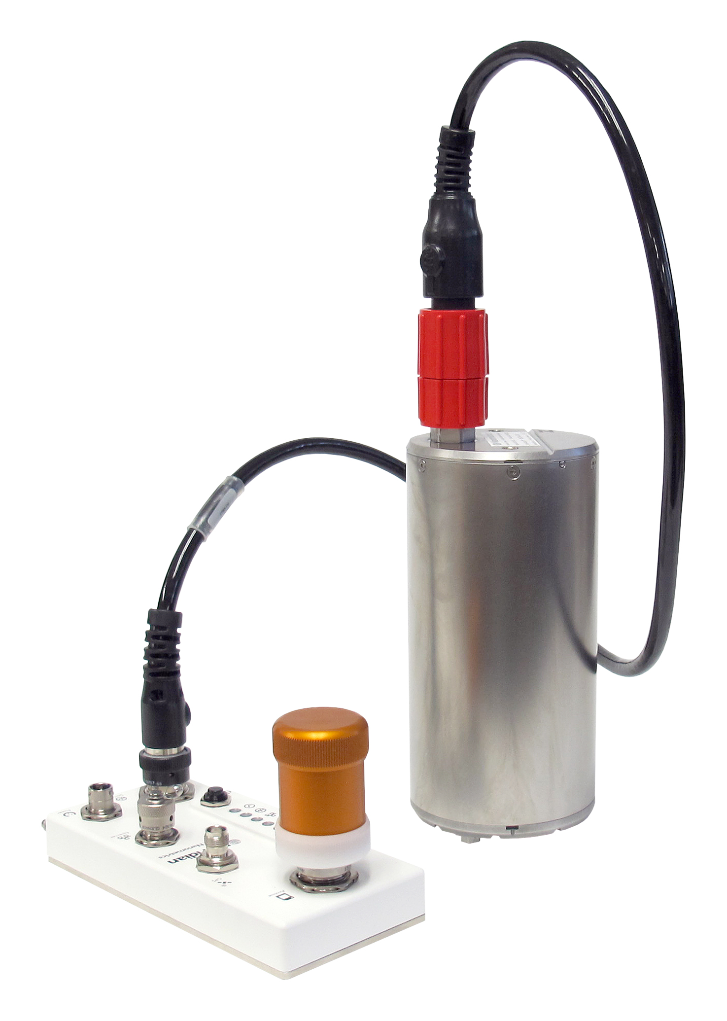 Meridian Compact Posthole seismometer with surface interface unit