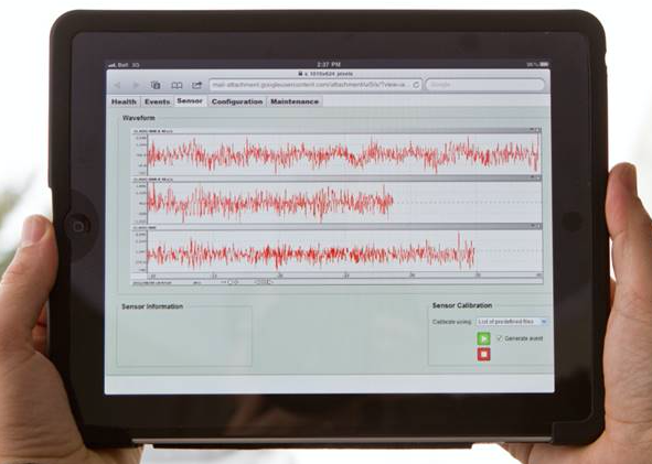 iPad with waveforms