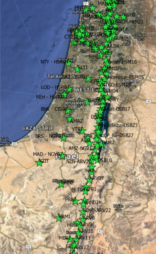 Earthquake Early Warning Network in Israel